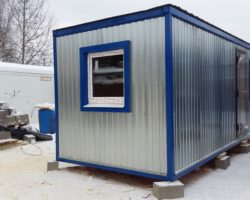 Блок-контейнер 6х2,45х2,45м со спальней и кухней