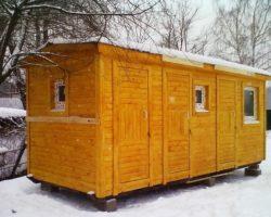 """Утепленная бытовка 6х2,3м """"Бытовой уголок"""" с кухней, помещением под санузел и хозблок"""