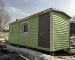 """Утепленная бытовка 6х2,3м """"Уют на даче"""" с тамбуром, кухней и спальней"""
