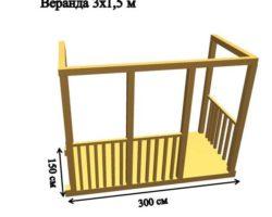 Веранда для Бытовок 3х1,5м для создания мини-домика
